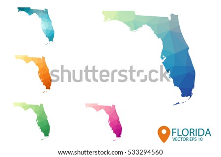 Florida Map Vector Download Free Vector Art Stock Graphics Images