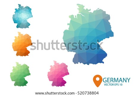 Free Germany Map Vector - Germany map eps