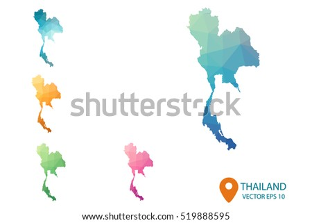 Thailand map vector free download