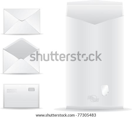 set of vector post envelope - stock vector