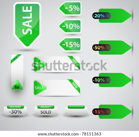 Set of vector price tags. You can use it for any sale time or seasons.Shadows will work on any color surface.