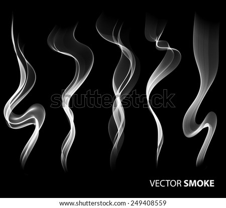 set of vector realistic smoke