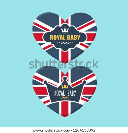 stock-vector-set-of-vector-royal-icon-heart-textured-under-british-flag-on-the-illustration-are-the-royal-crown