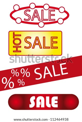 Set of vector sale labels and stickers