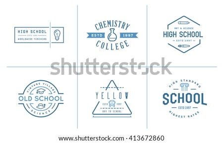 set of vector school or college