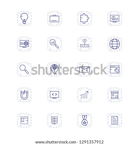 Set of Vector SEO Search Engine Optimization Icons #1291357912