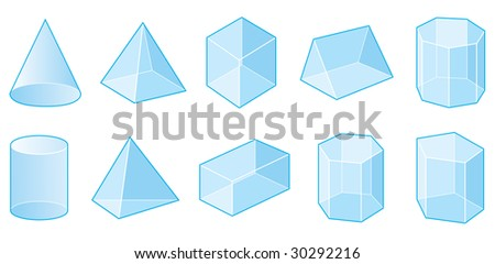 Set of vector shapes