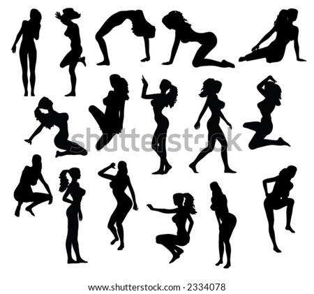 silhouettes of women. Silhouettes Women in Pinup