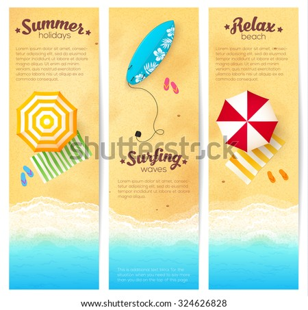 set of vector summer travel