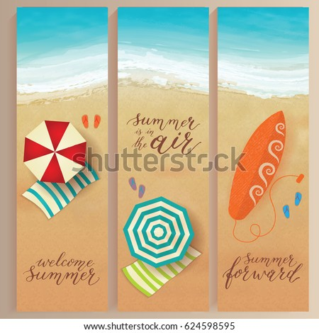set of vector summer travel...