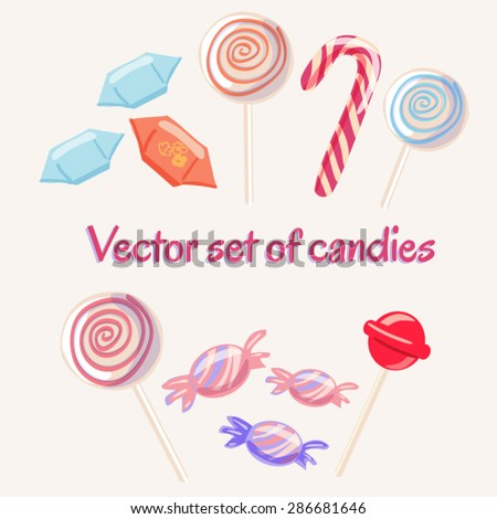 set of vector sweets isolated