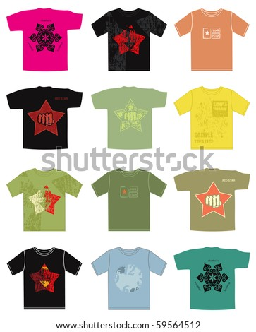 Set of Vector T-shirt design