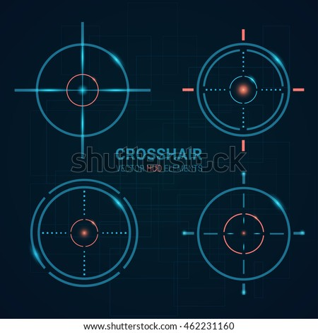set of vector targets templates