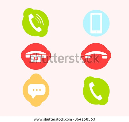 Set of vector telephone icons