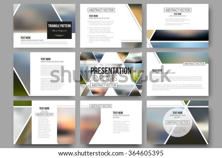 set of 9 vector templates for