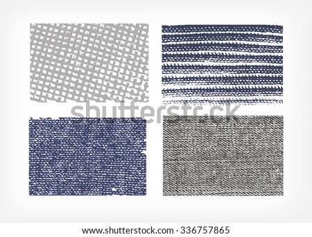 stock-vector-set-of-vector-textures-cloth-jeans