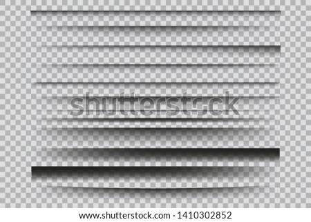Set of  vector transparent shadows. Design elements