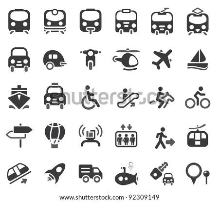 Set of vector transportation icon