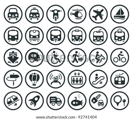 Set of vector transportation icon