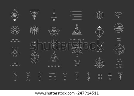 set of vector trendy geometric...