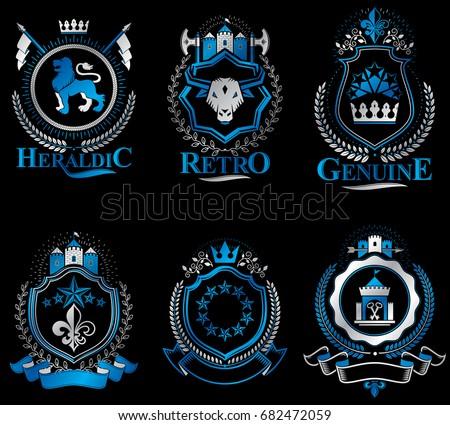 set of vector vintage emblems