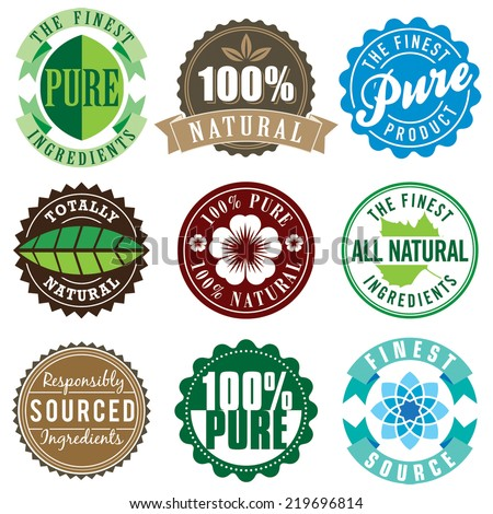 Set of vector vintage labels for personal lifestyle products