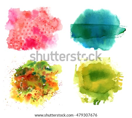 set of vector watercolor