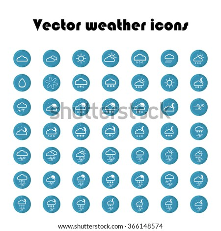 Set of vector weather icons.