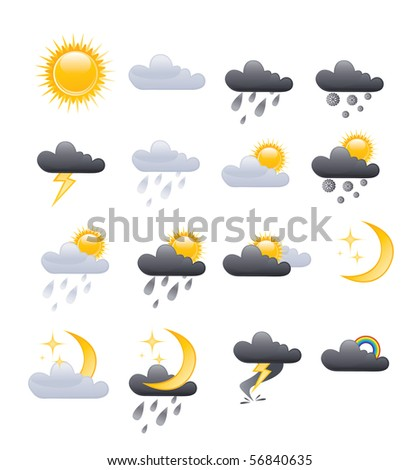 set of vector weather icons for your design