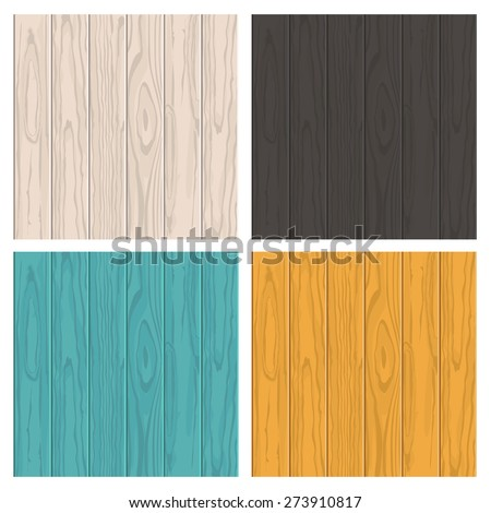 set of vector wooden texture