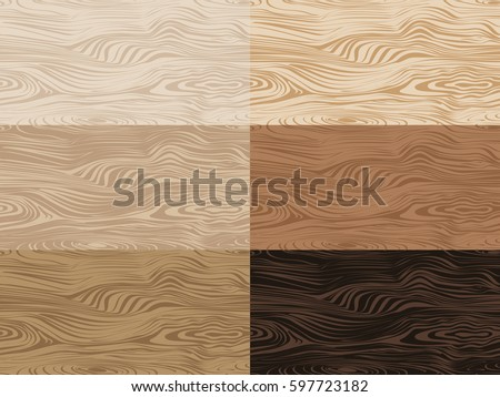 Set Of Vector Wooden Textures Seamless Patterns With Light And Dark Wood Texture