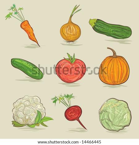 set of vegetables Stock fotó ©