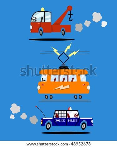 Set of vehicle designs-vector