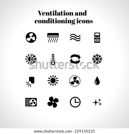 set of ventilation and