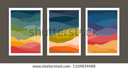 set of vertical backgrounds or