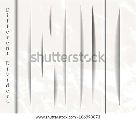 Set of vertical design shadow forms