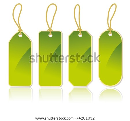 set of vertical labels