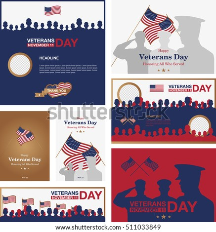 set of veterans day promo