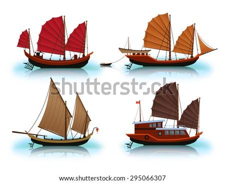 Set of Vietnam Junk (ship).