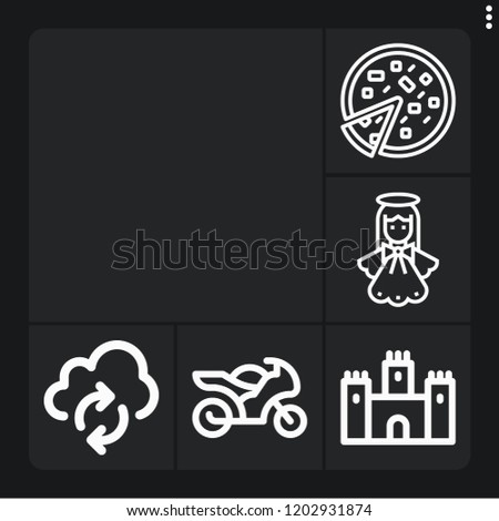 set of 6 view outline icons
