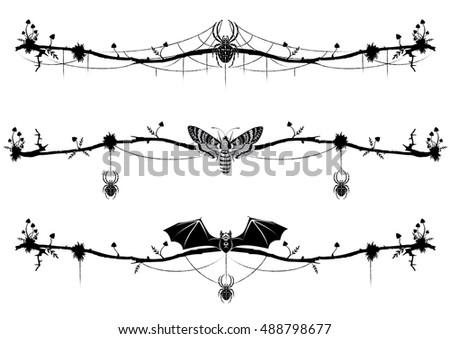 set of vignettes with bat