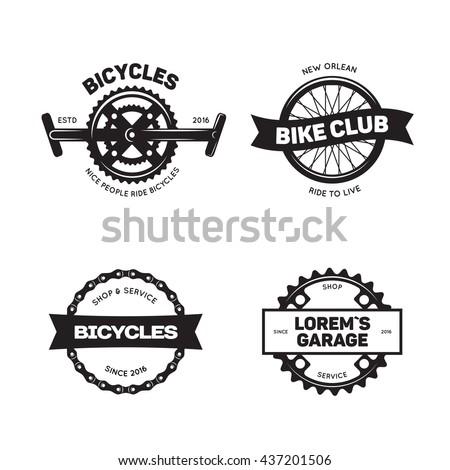 set of vintage and modern bike
