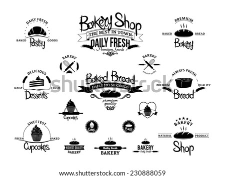bakery products labels download free vector art stock graphics