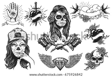 Heart Knife Tattoo Art Download Free Vector Art Stock Graphics