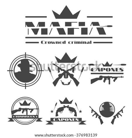 set of vintage black mafia
