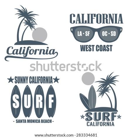 set of vintage california