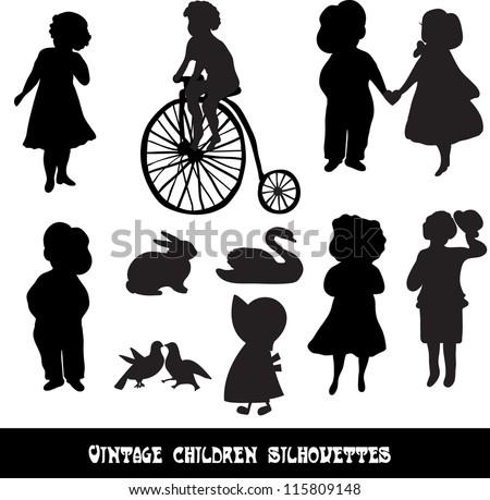set of vintage children and...
