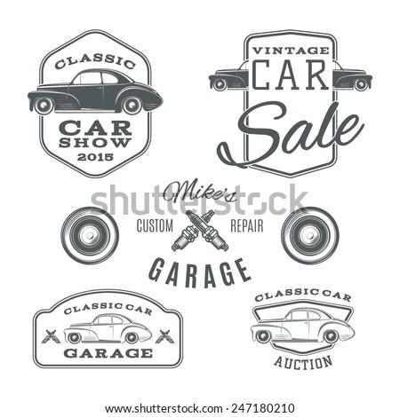 set of vintage  classic car