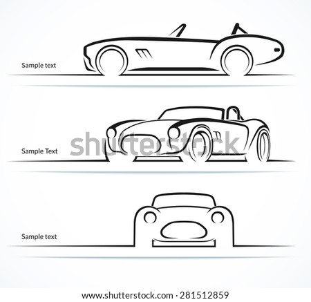 Vector Car Silhouette Front Download Free Vector Art Stock