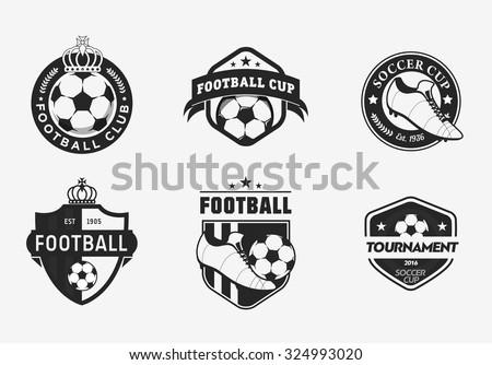 set of vintage color football
